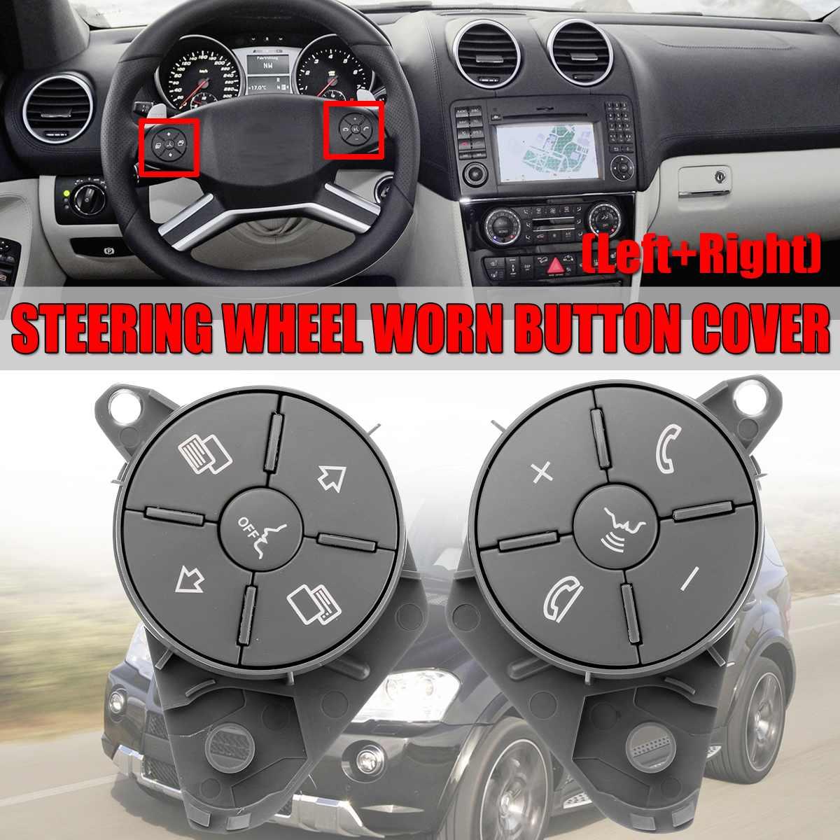 Nouveau W164 W251 universel volant de voiture usé bouton interrupteur de commande couvercle pour Mercedes pour W164 ML GL W251 RClass 2010-2012