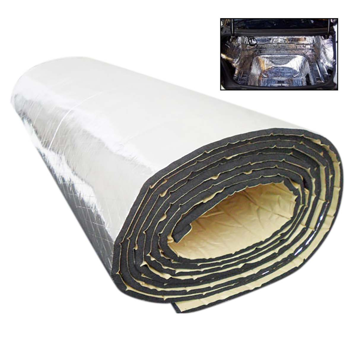 Car Insulation 64 Sqft Thermal Sound Deadener Block Automotive Heat /& Sound Made in USA//Closed Cell Foam Core #1 Selling Brand