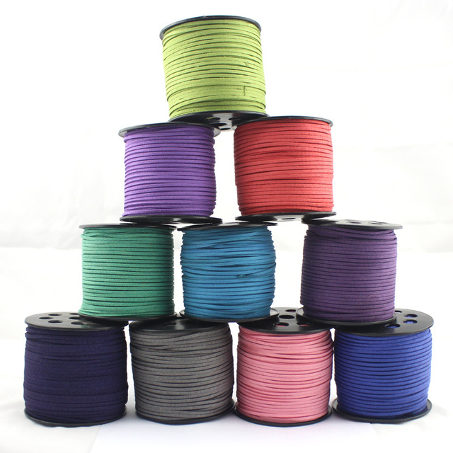 Free Shipping 10Yards/Bundle Factory Price Faux Suede Cord Leather Lace Jewelry Findings Beading Thread