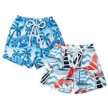ecad2922abf7b 2019 Style hawaïen enfant bébé garçons troncs ceinture élastique pantalons  courts d'été plage Shorts maillots de bain maillot de.