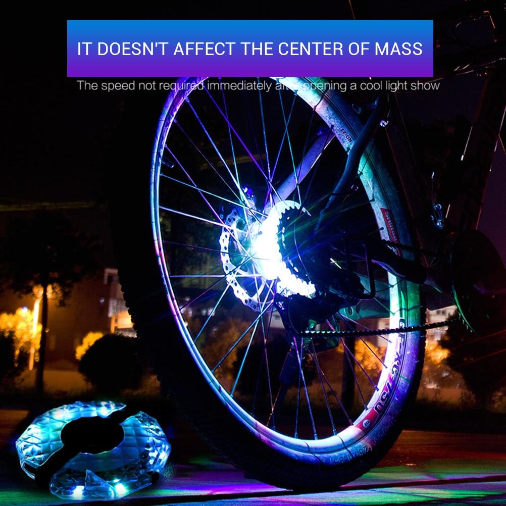 Hub USB Rechargeable Multi Colors Bicycle Wheel  Bike Warning Lights Spoke Light