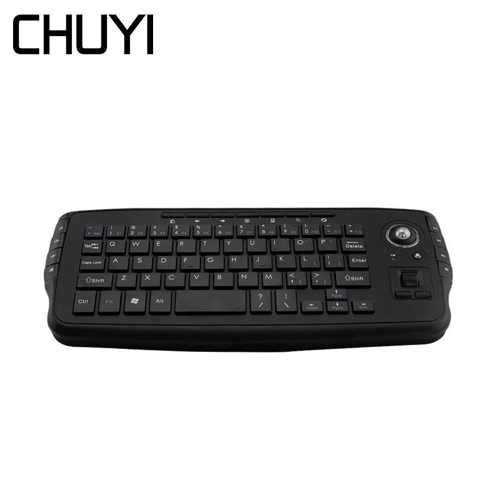 1e52d6e6480 CHUYI 2.4G Wireless Mini Keyboard Trackball Handheld Gaming Keypads Air  Mouse English Teclado For Android Smart TV Box PC Laptop