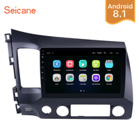 Seicane Android 8.1 10.1 Car Radio 2Din Quad Core 1024*600 Touchscreen Multimedia Player For Honda Civic 2006 2011 Head Unit