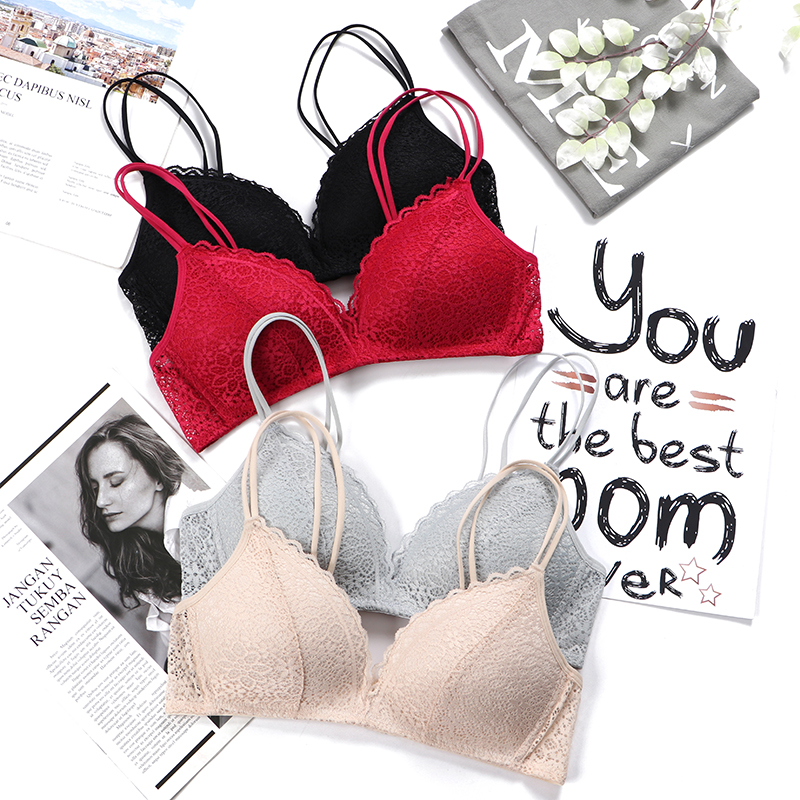 5e44eed69cc89 Sexy Lace Bras For Women Seamless Lingerie Push Up Bra Ultra Thin Cup  French Bralette Soft