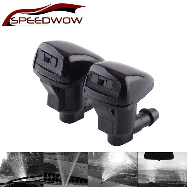 NS Modify 2Pcs Fan Shape Windshield Wiper Washer Jet Nozzle Spray For Toyota E120 Corolla Camry XV30 Car Windshield Accessories