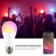 Magic RGB Smart WIFI Led Light Bulb 15 W E27 Smart Home Bluetooth Lighting Lamp Color Dimmable for Home Hotel(China)