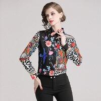 Blusas camisa primavera estampado multicolor manga larga 3