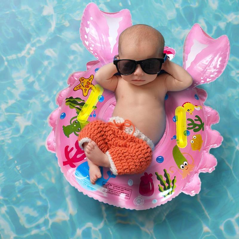 Child Swimming Ring Baby Swimming Ring Pool Seat Baby Seat Float Swim Ring Inflatable Safety Kids Swimming Pool Water Toys