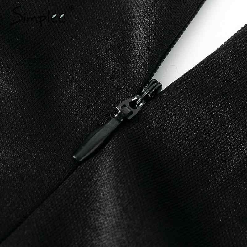 Simplee сексуальное Сетчатое платье с блестками, облегающее женское платье с длинным рукавом, черное летнее платье больших размеров, винтажные вечерние платья для женщин
