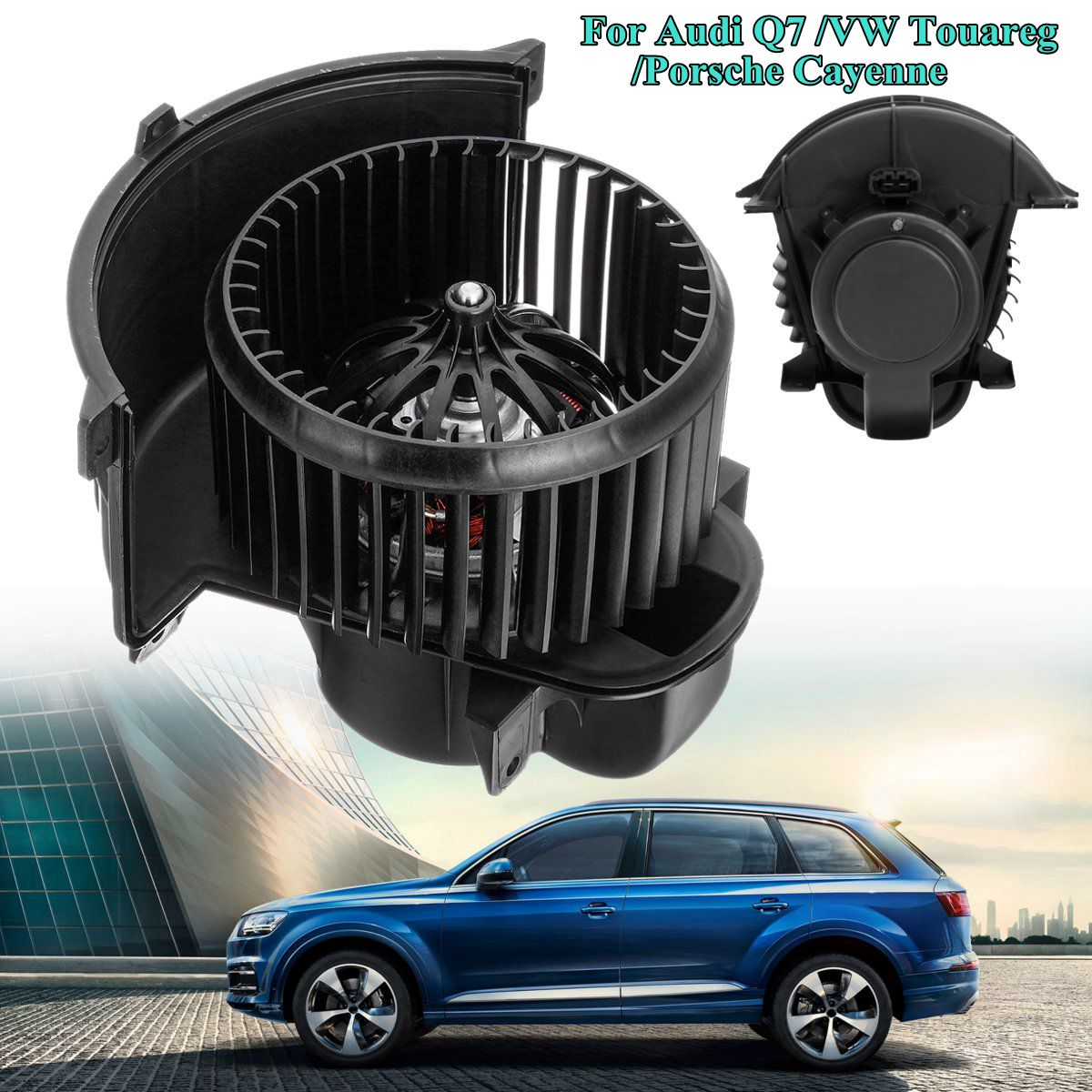 RHD New Front Heater Blower Motor with Cage For Audi Q7 for Volkswagen Touareg for Porsche Cayenne 7L0820021N 12v auto ac fan blower motor for audi q7 porsche cayenne vw amarok touareg lhd cw 7l0820021q 7l0820021m 7l0820021l