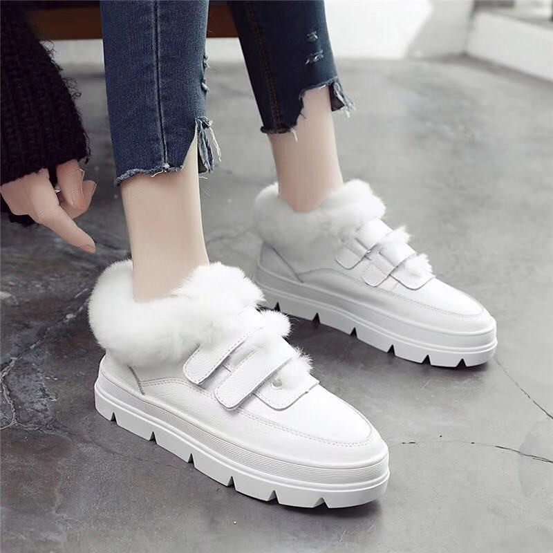 2018 Fashion Women Boots Warm Winter Boots Female Women Shoes Faux Hook &Loop Fur Ankle Boots For Girl /Lady Snow White Boots2018 Fashion Women Boots Warm Winter Boots Female Women Shoes Faux Hook &Loop Fur Ankle Boots For Girl /Lady Snow White Boots