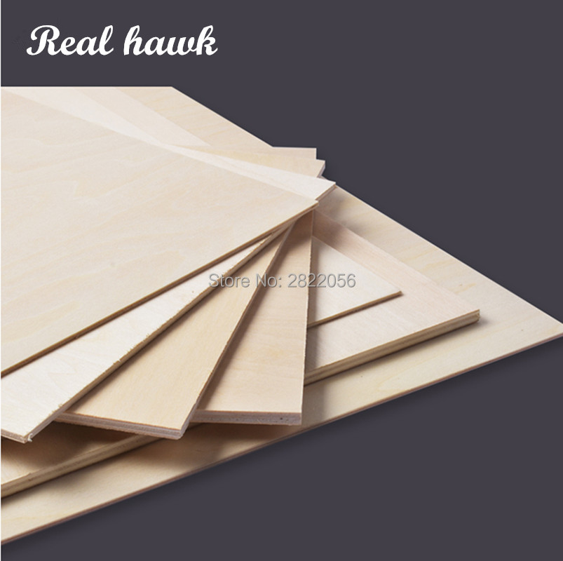 A4 Size 297x210mmx0.5/1/1.5/2/3mm Super Quality Aviation Model Layer Board Birch Plywood Plank DIY Wood Model Materials