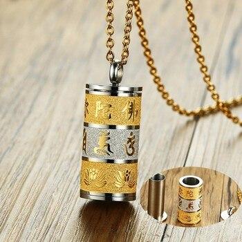 R tro tib tain roue de pri re tourneur bouddhiste pendentif collier pour hommes en acier