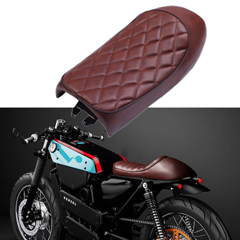 Motorcycle Cafe Racer Seat Vintage Saddle Diamond Cushion Honda CB CL Yamaha SR XJ Suzuki GS GN model CG125 SR400 <font><b>SR500</b></font> TU250 image
