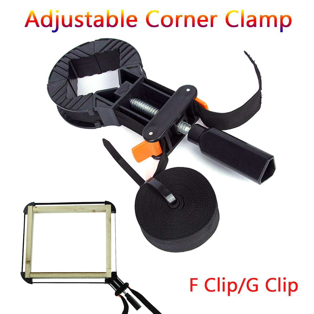 Quick Adjustable Corner Clamp Strap Blet Corner Clamps for Woodworking Photo Frame Tools Multifunction Blet Clamp DIY ToolQuick Adjustable Corner Clamp Strap Blet Corner Clamps for Woodworking Photo Frame Tools Multifunction Blet Clamp DIY Tool