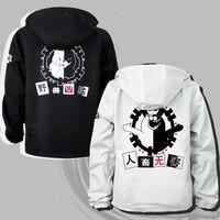 Milky Way Anime Danganronpa Trigger Happy Havoc Monokuma Double Side Jacket T Shirt Cosplay Costume Long Sleeve Coatl Jacket