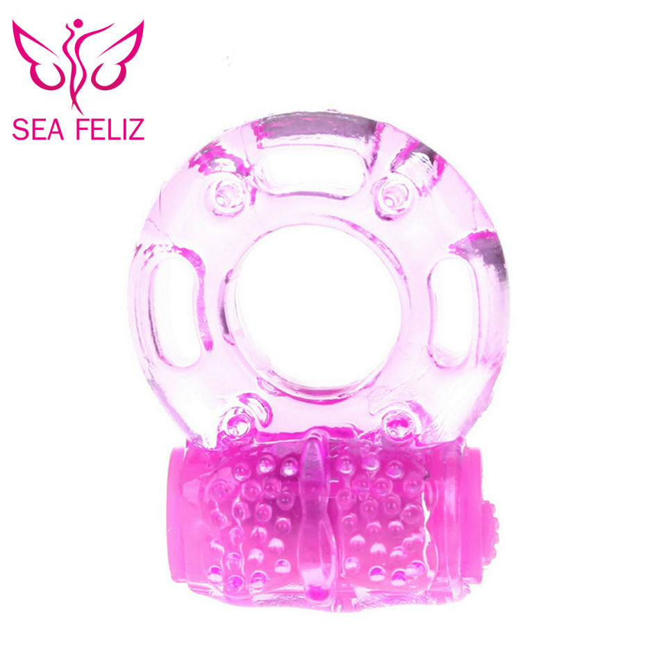 SEAFELIZ Delay Penis Rings Vibrating Cock Ring, Stretchy Intense Clit Stimulation Couples Sexy Toy Premature Ejaculation Lock