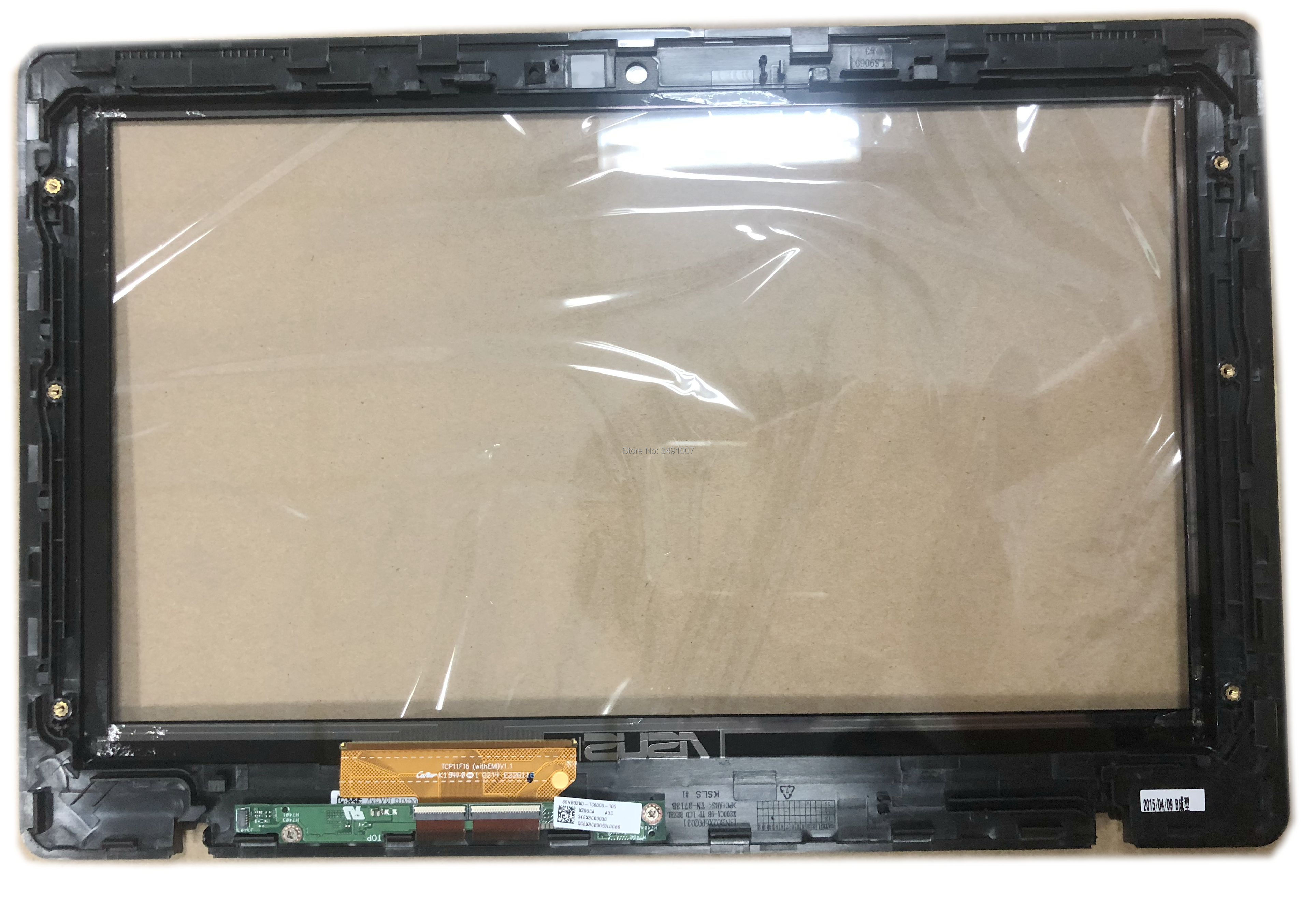 For Asus Vivobook X200MA <font><b>X200CA</b></font> X200LA laptop TCP11F16 V1.1 Touch Screen Digitizer Glass with BLACK Frame image