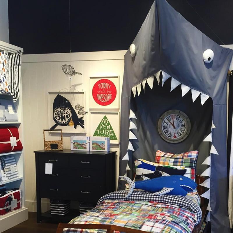 Creative Bed Mosquito Net 3D Cartoon Shark Bed Canopy Cotton Kids Hanging Play Tent Bedroom Decoration Kid Children Crib Netting