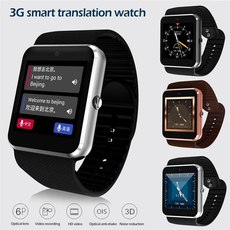 WQ08S 3G Large Screen Smart Watch Voice Translation Full Touch Screen Call Reminder Push Message Bluetooth Smart Wristband