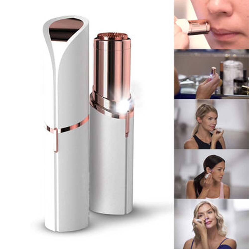 Defeatherer Safety Razor Hair Neck Body Electric Tool MIni Portable Straight Razor For All Women Lipstick Epilator Facial Hair(China)