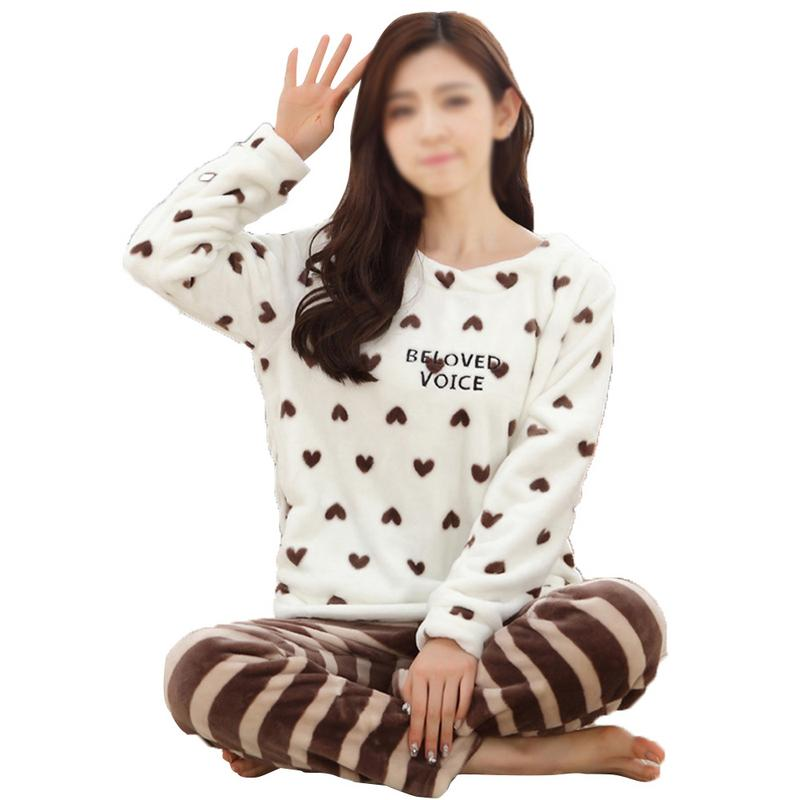 4a8670fc7d Detail Feedback Questions about Autumn And Winter Thick Flannel Pajamas  Long Sleeves Warm Women s Pajamas Coral Fleece Home Service Suit on  Aliexpress.com ...