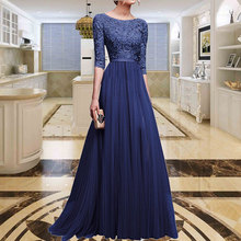 Chiffon Bridesmaid Dresses Elegant Party lace Gowns fashion Formal Wedding long Dress