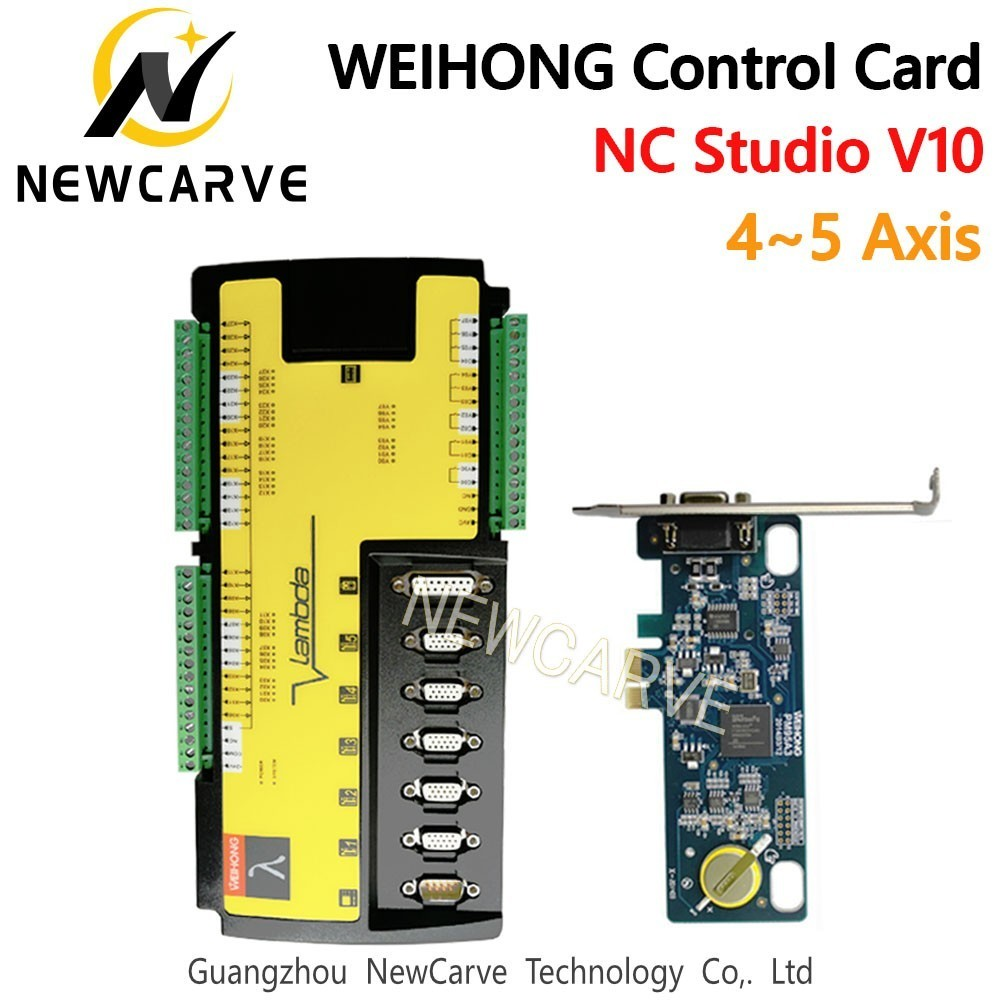 WEIHONG CNC Control System Card Milling Machine 4 5 Axis Controller PM95A+Lambda5S Software NcStudio For CNC Router NEWCARVE