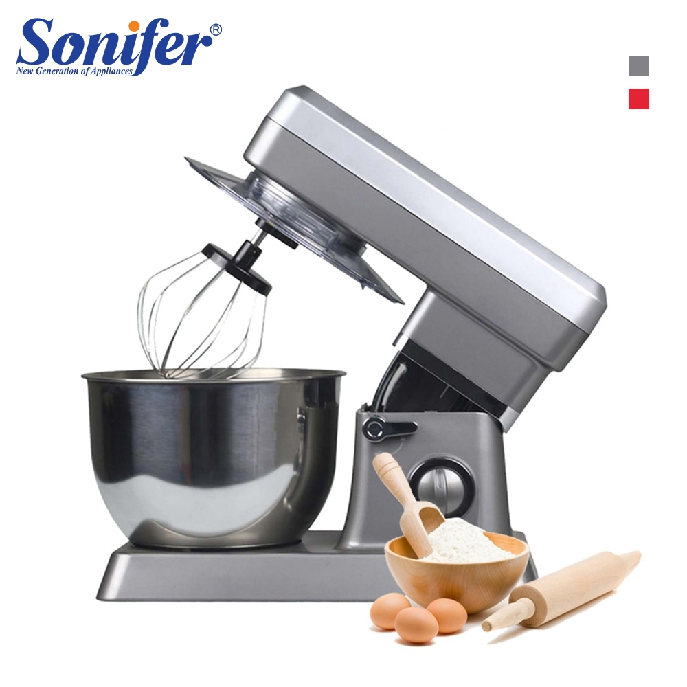 1200W High Power Food Mixers Large size Stainless Steel Whisk Household Cream Mixer Kneading Machine Food Processor Sonifer1200W High Power Food Mixers Large size Stainless Steel Whisk Household Cream Mixer Kneading Machine Food Processor Sonifer