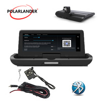 One button navigation reversing image integrated machine 4LED 8 inch Android 4G driving recorder GPS
