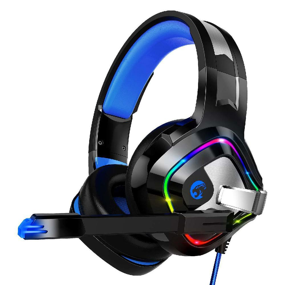 2019 New Stereo Over-Ear Gaming Headset for PC Gaming Console with RGB LED Noise Cancelling for Xbox One Gaming Headset r20