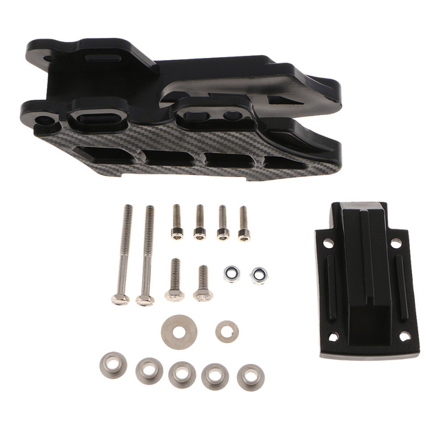 Guía/protector de cadena trasera para motocicleta, Pieza de plástico negra, para DirtBike CRF KLX KDX KXF RM RMZ DRZ YZ YZF WRF Rub Block