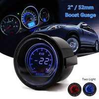 2'' 52mm Universal Turbo Car LED Vacuum Turbo Boost Gauge Meter Red Blue 35PSI