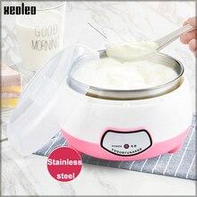 XEOLEO Yogurt maker 1L Automatic Yogurt machine Household DIY Yogurt tools Kitchen appliance Stainless steel/PP tank Pink 220V цены онлайн