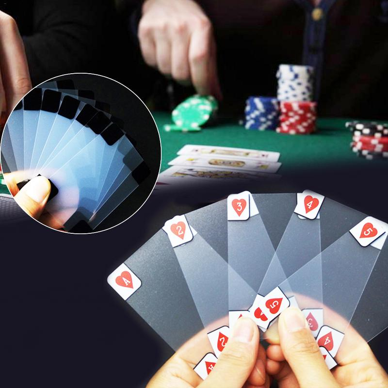 Transparent PVC Poker Plastic Crystal Waterproof Playing Cards Party Funny Game