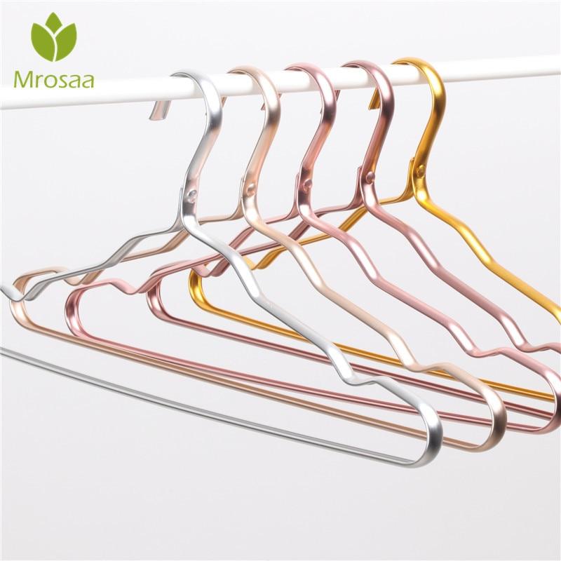 Cloth Hanger Durable Antideformation Aluminium Alloy Closet Adult Skirt Dress Clothing Towel Storage Rack Closet Space Saver