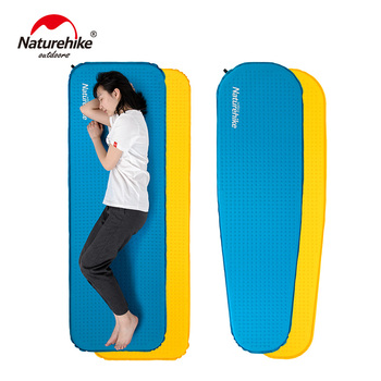 Naturehike Camping Mattress Lengthened Self-inflating Camping Mat High Quality Sponge Sleeping Pad Outdoor Hiking 2019 self inflating camping roll mat pad sleeping bed polyester outdoor automatic inflatable pillow air mattress