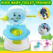 2 In1 Portable Kids Baby Toilet Trainer Child Toddler Potties Training Seat Fun Chair for Boys Girls(China)