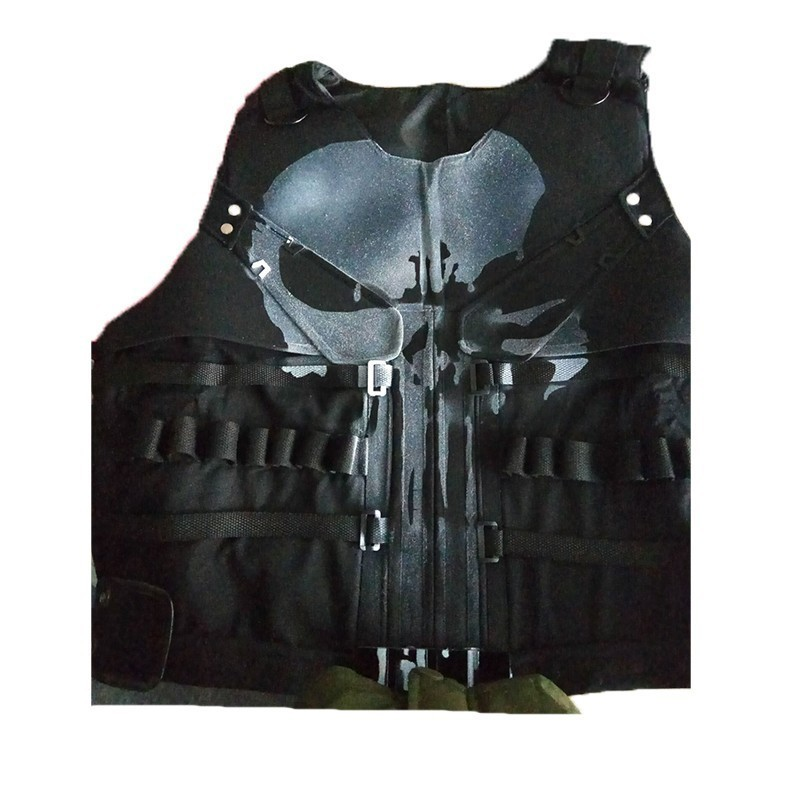 The Punisher Season 1 Costume Punisher Man Cosplay Superhero Leather Halloween Adult Men Only Vest Custom Made Accessories