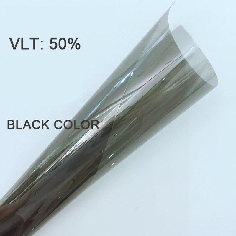50 cm X 300 cm VLT50 % 4 mil noir anti-déflagrant nano céramique sécurité teinte film voiture autocollant