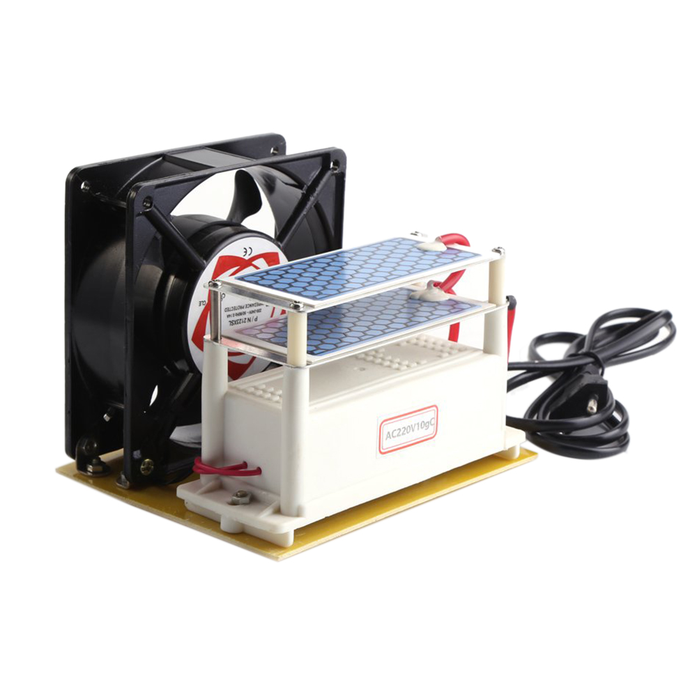 Eu Plug, Ceramic Ozone Generator Purifier Sterilizer Double Leaves Ceramic Ozone Plates With Cooling Fan (Eu Ac220V)Eu Plug, Ceramic Ozone Generator Purifier Sterilizer Double Leaves Ceramic Ozone Plates With Cooling Fan (Eu Ac220V)