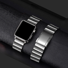 AKGLEADER Newest Solid Metal Steel Band For Apple Watch Series 4 iWatch High Quality Watchband 3 2 1 Wrist Strap
