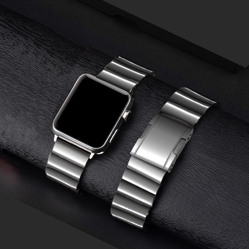 AKGLEADER Newest Solid Metal Steel Band For Apple Watch Series 4 iWatch High Quality Watchband For Apple Watch 3 2 1 Wrist Strap