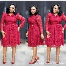 Africano feminino vestido de tamanho grande L 4XL 2019 nova moda rendas estilo elegent africano vestido