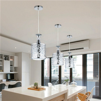 Lámpara de techo LED de hierro de cristal moderna lámpara colgante de araña  para comedor Decoración de cocina luces LED
