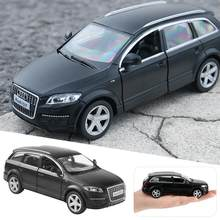 1:36 For Audi Q7 Car Model Made Of Zinc Alloy For Opening Door Pull-back Toy Car Gift For Kids(China)