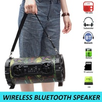 Portable Speaker bluetooth Wireless Stereo Bass Speaker Subwoofer HIFI AUX USB TF Card FM Radio Outdoor Music Player Speakers