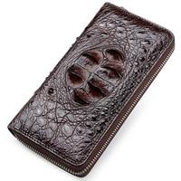 Luckyer Beauty 2019 новый кошелек для монет тиснение Аллигатор Мода Крокодил длинный мужской клатч кошельки Мужской крокодил