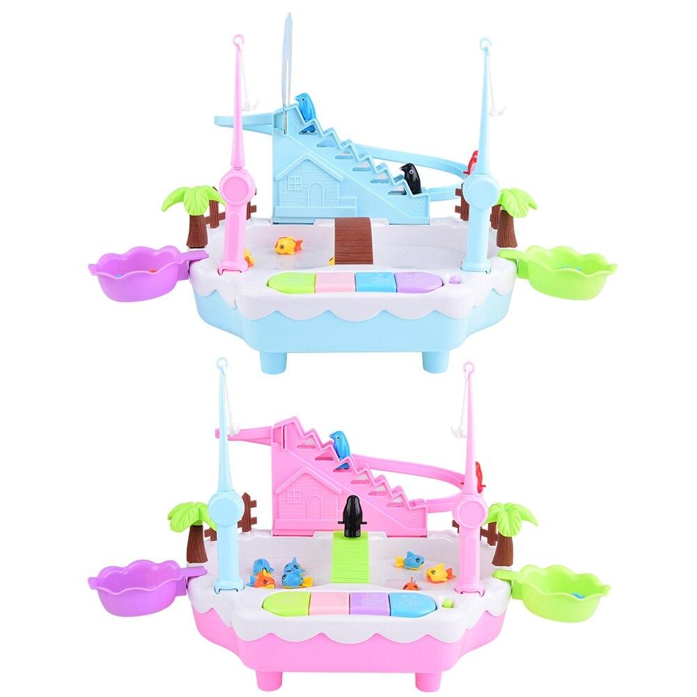 Elektrische Magnetische Vissen Speelgoed Water Spelen Tafel Spel Geschenken met Muziek Water Spel Speelgoed muziek water Spel Speelgoed