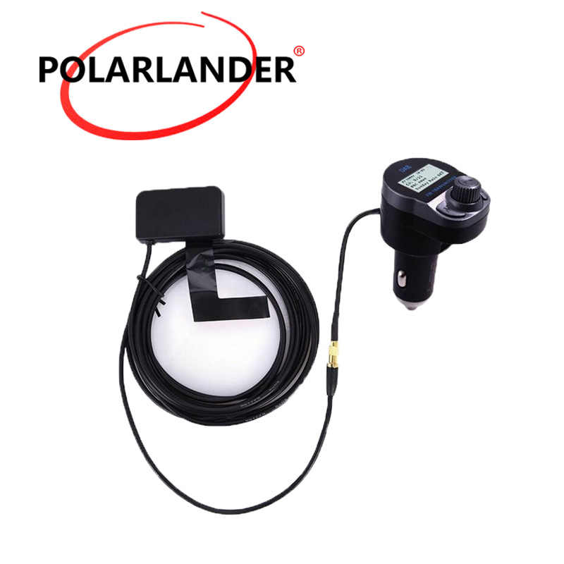 Car DAB Digital Radio USB Adapter Receiver Tuner+FM Transmitter+Antenna 5V 2.4A